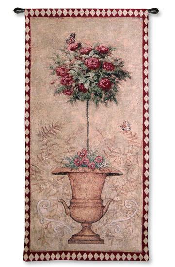 Rose Topiary II-Jill Schultz McGannon-Wall Tapestry