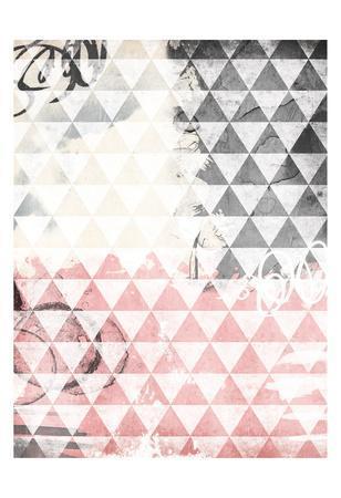 Rose Tri Abstract-Jace Grey-Art Print