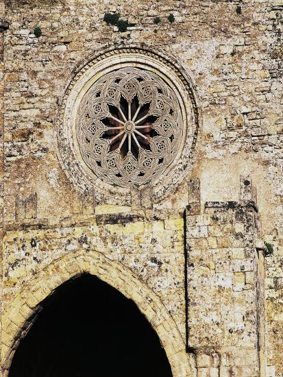 Rose Window from Matrice Church, Erice, Sicily, Italy--Giclee Print