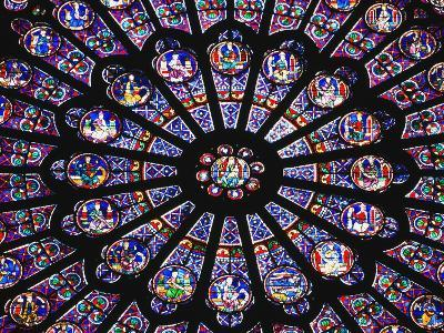 Rose Window in the Notre Dame Cathedral-Design Pics Inc-Photographic Print