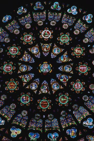 Rose window in the south transeit of St Denis, 12th century. Artist: Unknown-Unknown-Giclee Print