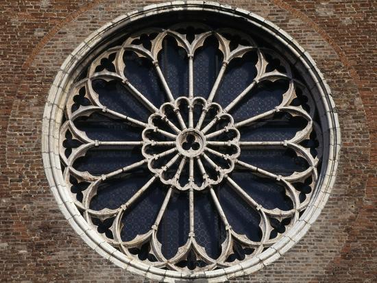 Rose Window of Church of San Francesco, Mantua, Lombardy, Italy--Giclee Print