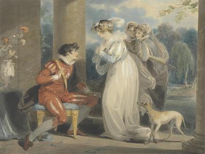 Rosebud, or the Judgement of Paris, 1791 (W/C and Bodycolour over Graphite on Paper)-Richard Westall-Giclee Print