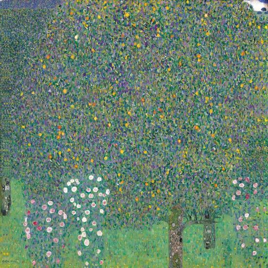 Rosebushes Under the Trees-Gustav Klimt-Art Print