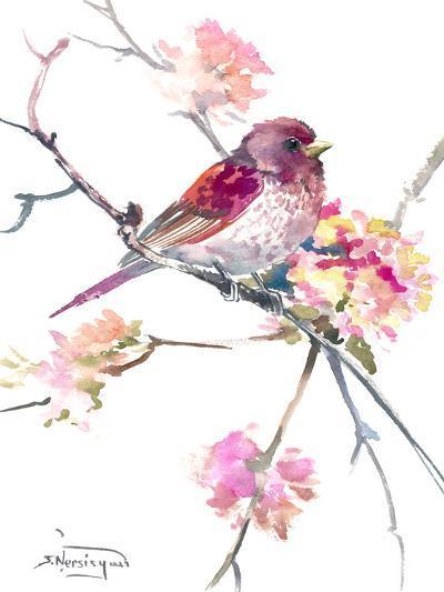 Rosefinch-Suren Nersisyan-Art Print