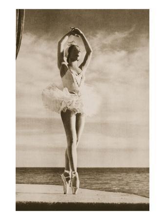 Rosella Hightower in Swan Lake, from 'Grand Ballet De Monte-Carlo', 1949 (Photogravure)-French Photographer-Premium Giclee Print