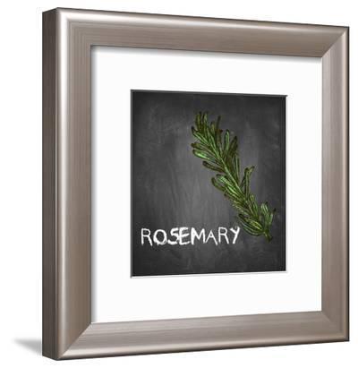 Rosemary on Chalkboard-Color Me Happy-Framed Art Print
