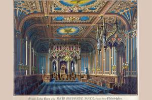Symbols - Grand Lodge Room of the New Masonic Hall, Chestnut Street Philadelphia by Rosenthal