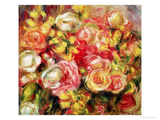 Roses, 1915-Pierre-Auguste Renoir-Premium Giclee Print
