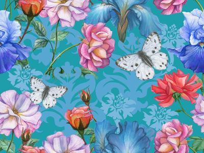 Roses and Butterflies-Maria Rytova-Giclee Print