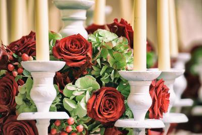 Roses and Candles Decoration-stefano pellicciari-Photographic Print