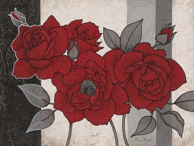 Roses and Stripes 1-Ariane Martine-Art Print
