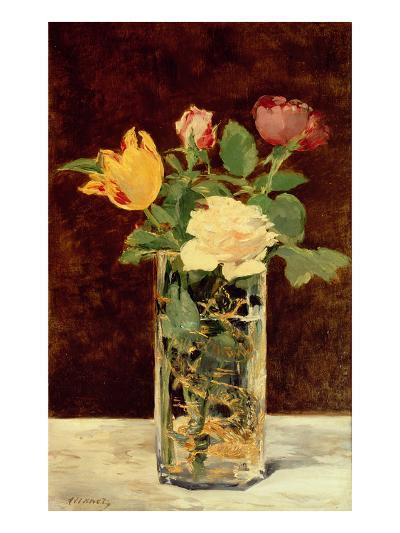 Roses and Tulips in a Vase, 1883-Edouard Manet-Giclee Print