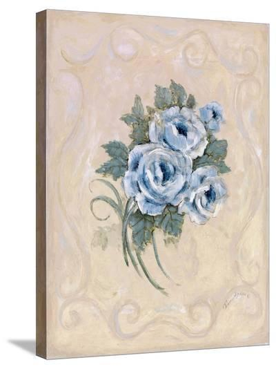 Roses Azure-Peggy Abrams-Stretched Canvas Print