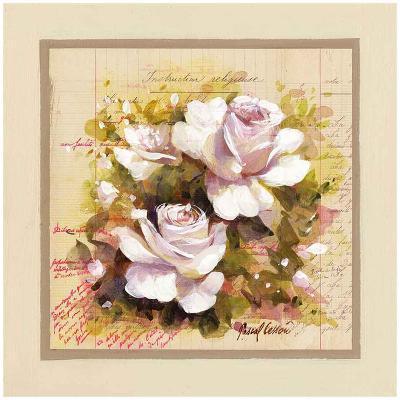 Roses Blanches-Pascal Cessou-Art Print