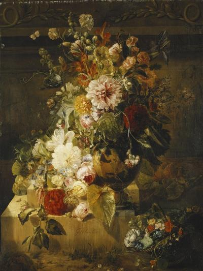 Roses, Convolvuli, Carnations, Hollyhocks, Peonies, Lilac and Other Flowers in a Vase-Georgius Jacobus Johannes van Os-Giclee Print