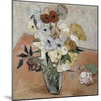 Roses et anémones-Vincent van Gogh-Mounted Giclee Print