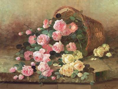 Roses in a Basket-Jan van Steensel-Giclee Print