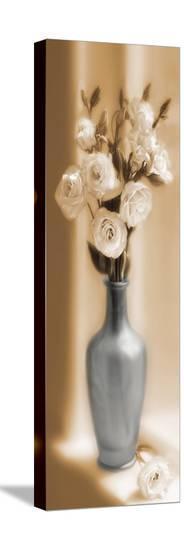 Roses In A Blue Vase-Christine Zalewski-Stretched Canvas Print