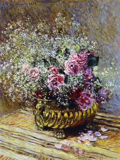 Roses in a Copper Vase, 1878-Claude Monet-Premium Giclee Print