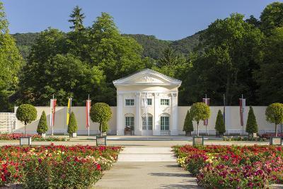 Roses in the Doblhoffpark, Rosarium, Baden Bei Wien, Lower Austria, Austria-Rainer Mirau-Photographic Print