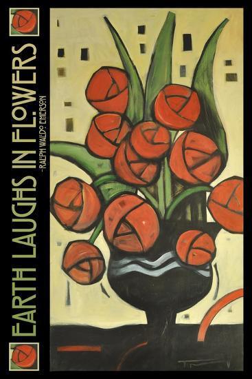 Roses in Vase Poster-Tim Nyberg-Giclee Print