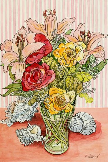 Roses, Lillies and Shells, 2008-Joan Thewsey-Giclee Print