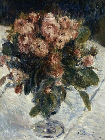 Roses mousseuses-Pierre-Auguste Renoir-Giclee Print