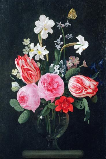 Roses, Narcissi, Tulips and Other Flowers-Christiaan Luykx-Giclee Print