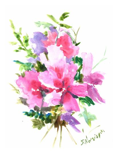 Roses Of Sharon-Suren Nersisyan-Art Print