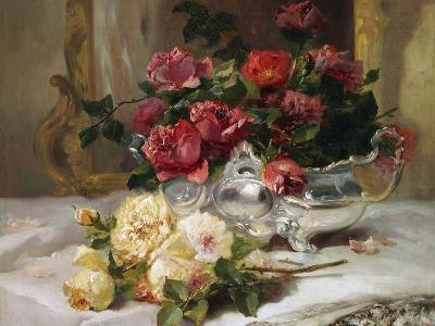 Roses on a Dressing Table-Eugene Henri Cauchois-Giclee Print