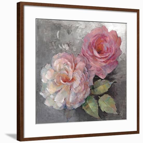 Roses on Gray I Crop-Peter McGowan-Framed Art Print