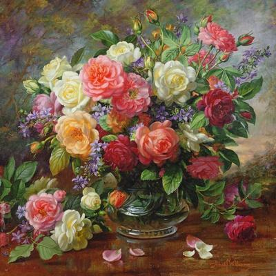 The Perfection of Summer Canvas Art Print Roses