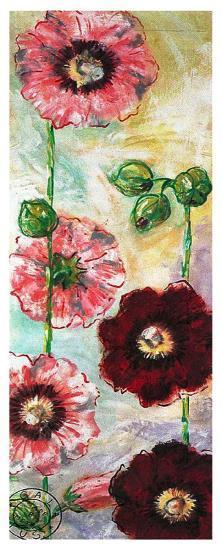 Roses Trémières II-Mette Galatius-Art Print