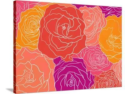 Roses-Ramneek Narang-Stretched Canvas Print