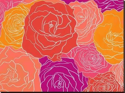 Roses-Ramneek Narang-Stretched Canvas Print
