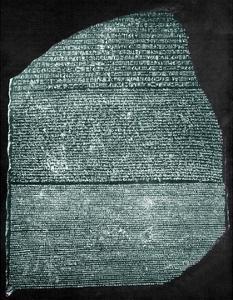 Rosetta Stone (Egypt) Studied by Jean Francois Champollion, Egyptologist, in 1799