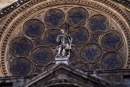 Rosette Above Door of Clock of Primate Cathedral of St Mary, Toledo, Castile-La Mancha, Detail--Giclee Print