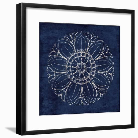 Rosette VII Indigo-Wild Apple Portfolio-Framed Art Print