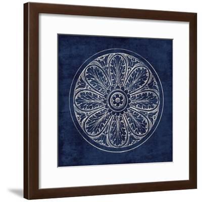 Rosette VIII Indigo-Wild Apple Portfolio-Framed Art Print