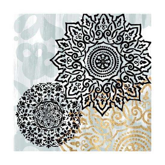 Rosettes on Aqua I-Studio W-Art Print