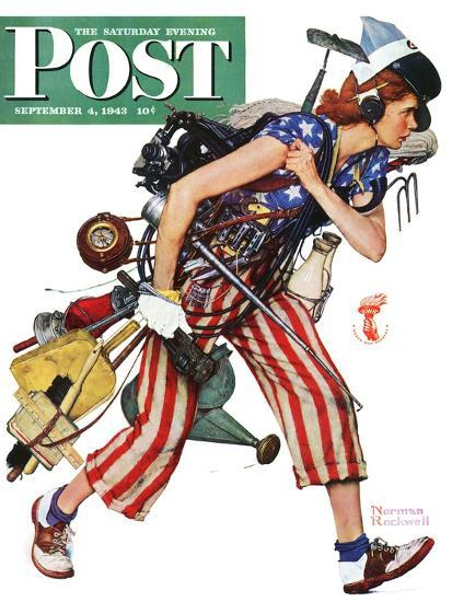 Quot Rosie To The Rescue Quot Saturday Evening Post Cover