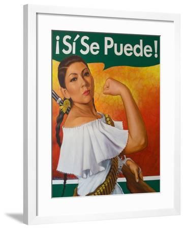 Rosita (¡Sí Se Puede!)-Robert Valadez-Framed Art Print
