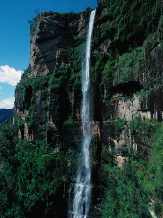 Bridal Veil Falls, Govetts Leap Lookout, Near Blackheath Blue Mountains National Park, Australia