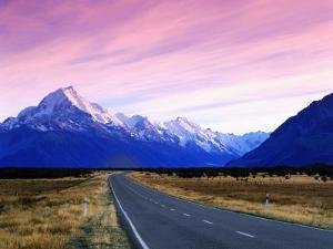 Early Morning of Mount Cook and Other High Peaks of Southern Alps, New Zealand by Ross Barnett
