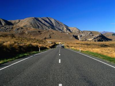 Highway 73 at Castle Hill Basin near Arthur's Pass, New Zealand