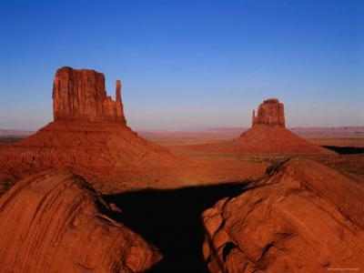 West Mitten Butte and East Mitten Butte, Monument Valley Navajo Tribal Park, Utah