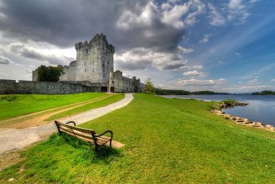 Ross Castle with Empty Bench near Killarney, Co. Kerry Ireland-Patryk Kosmider-Photographic Print