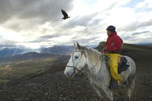Gaucho and Condor Natales Chile by Ross Gordon