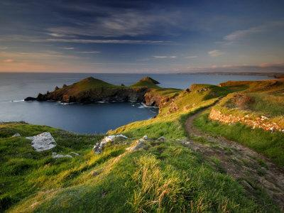 Footpath Along the Rumps, Pentire Point, Near Polzeath, Cornwall, UK